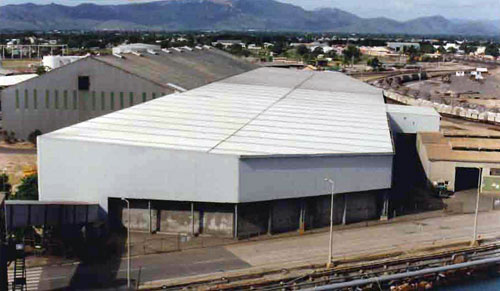 Concentrates Storage Shed 9000 sq metres - no internal columns & Fraser Osborn - Storage u0026 Export Facilities